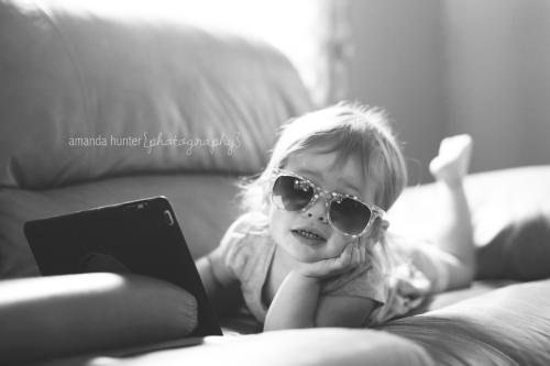 Too Cool For You - Toddler in Glasses