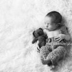 Newborn with Bear Photography Tallahassee