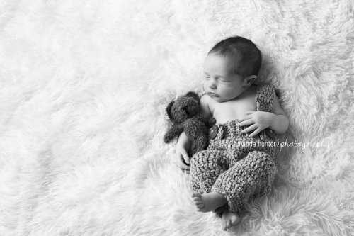 Newborn with Bear Photography Tallahassee